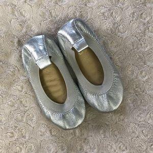 Yosi Samra Ballet Flats Silver Baby Girl Size 5